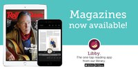 Magazine cover and iPhone with text 'magazines now available !' and Overdrive logo