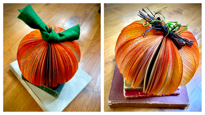 Altered Book Pumpkin Craft - Adults & Teens