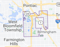 Map of Bloomfield Township, Michigan, limits