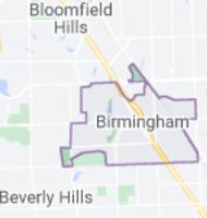 Map of Birmingham, Michigan, limits