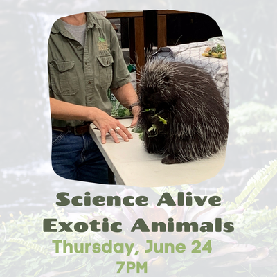 Science Alive Exotic Animals - register here