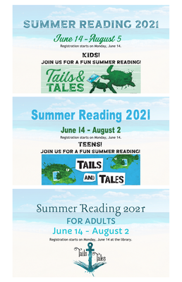 Summer Reading 2021 STARTS - register at the library