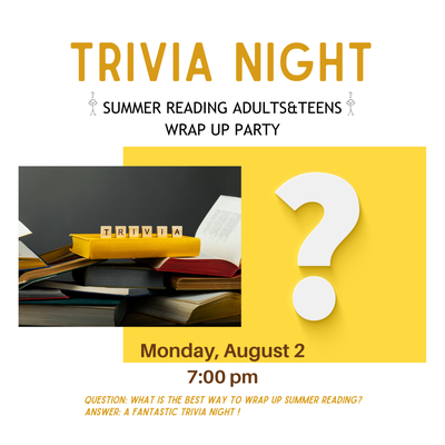 Trivia Night for Adults&Teens with SuperDaveDJ! - register here