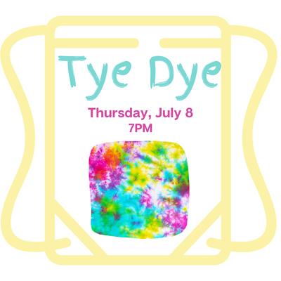 Tye Dye for Kids&Teens - register here