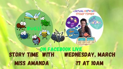 Virtual Wednesday Story Time: Bugs!