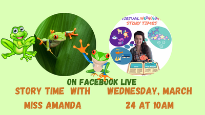 Virtual Wednesday Story Time: Frogs!