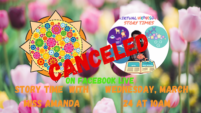 CANCELED : Virtual Wednesday Story Time: Spring!