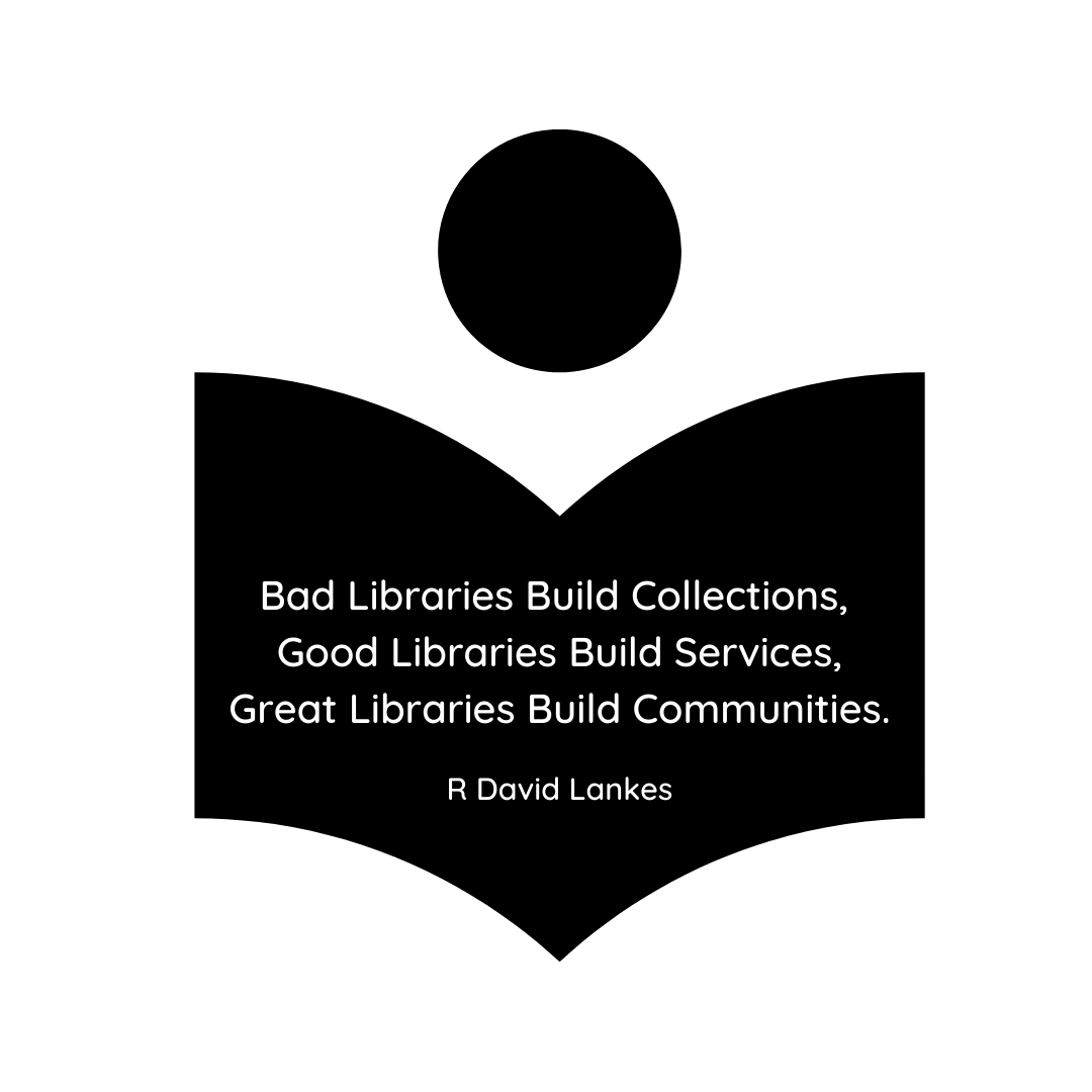 Bad Libraries Build Collections, Good Libraries Build Services, Great Libraries Build Communities..png