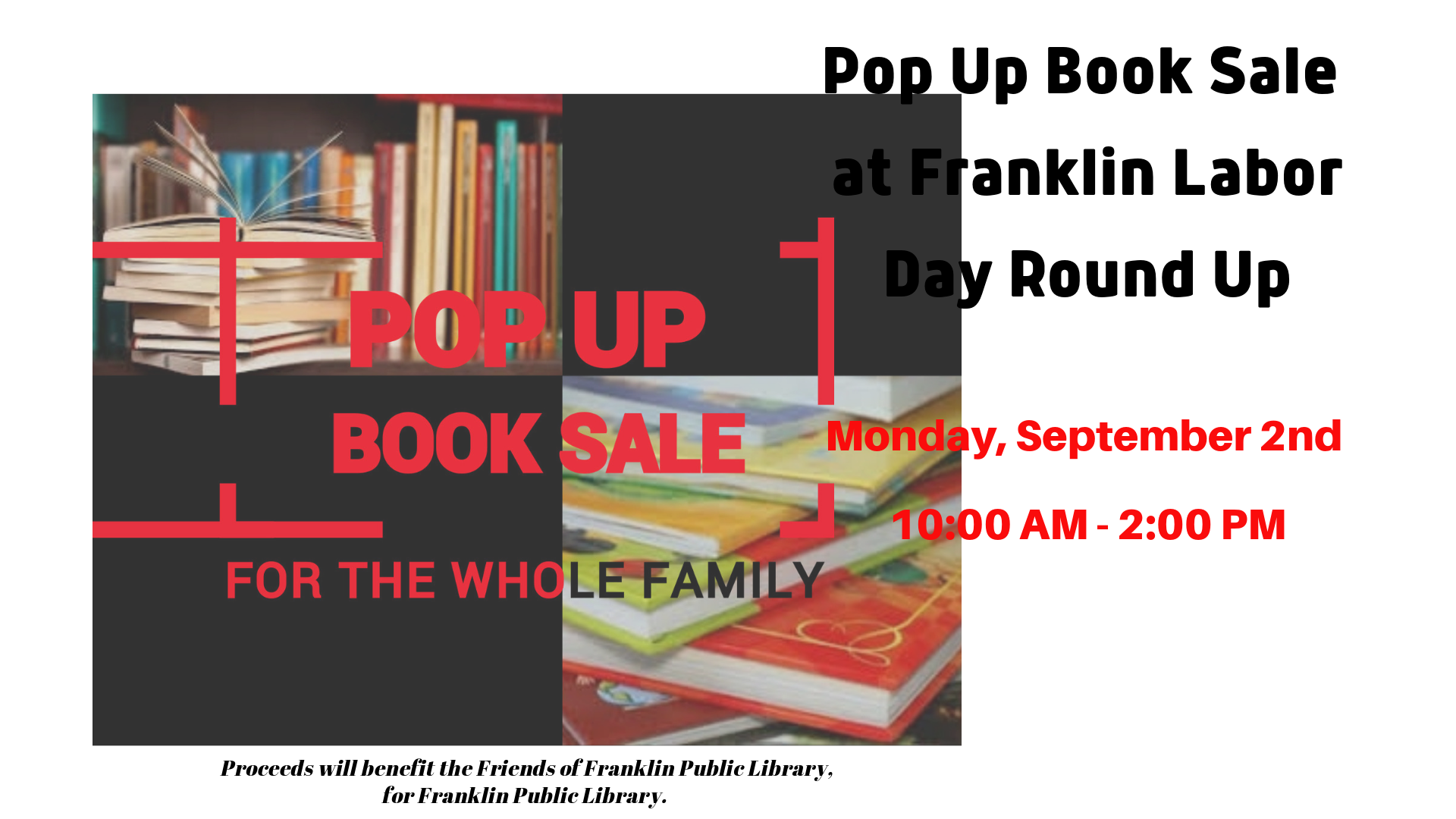 CAROUSEL Pop Up Book Sale at Labor Day Round Up.png