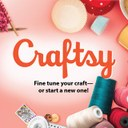 Pink background with coloful crafty material and text 'fine tune your craft or start a new one'