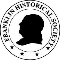 Profile of Ben Franklin in black