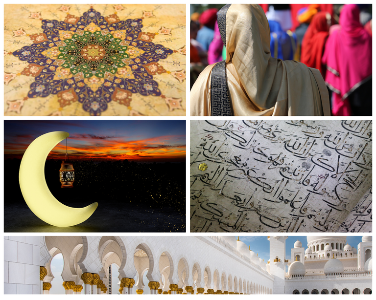 Islam and its people Collage.png