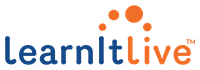 Orange and blue logo of LearnItLive health and wellness streaming service