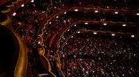 Opera house red velvet balconies